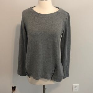 H By Bordeaux Sweatshirt Top Size S Gray